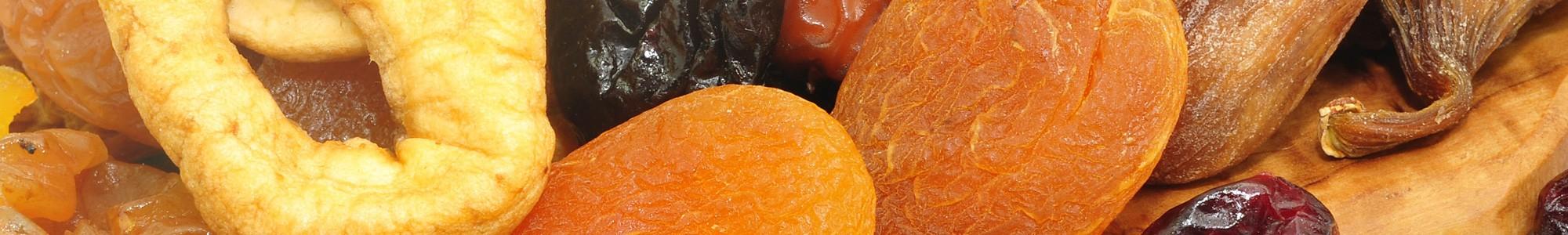 Сушеные (вяленые) фрукты и овощи