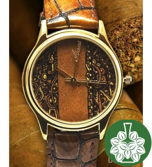 """Wristwatch Arami A-025A """"Miniature On Cigar Leaf"""""""