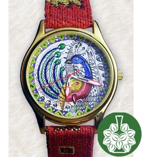 """Wristwatch Arami A-026 """"Miniature Peafowl"""""""