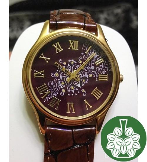 "Wristwatch Arami A-024 ""Miniature On Rose Petals"""