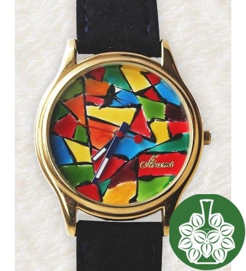 "Wristwatch Arami A-021 ""Coloured Glass"""
