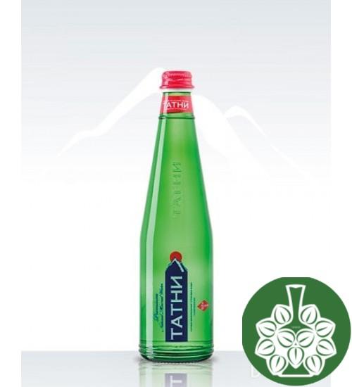 """Минеральная вода """"Татни"""" природной газации с ароматом лимона (стекло) 0,5л."""