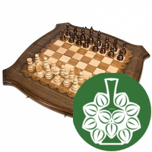 Шахматы + Нарды резные 60